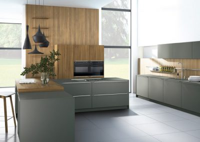 LACQUERED LAMINATE SLATE GREY / ELM